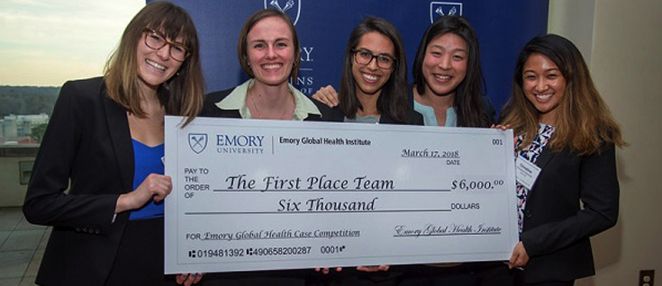 STUDENT WINNERS: Emory team wins international global health competition