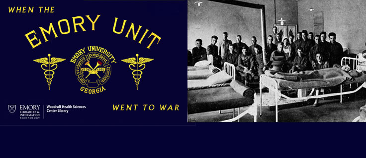 Exhibit on Emory doctors, nurses, and enlisted men who comprised Base Hospital 43 during World War I and World War II