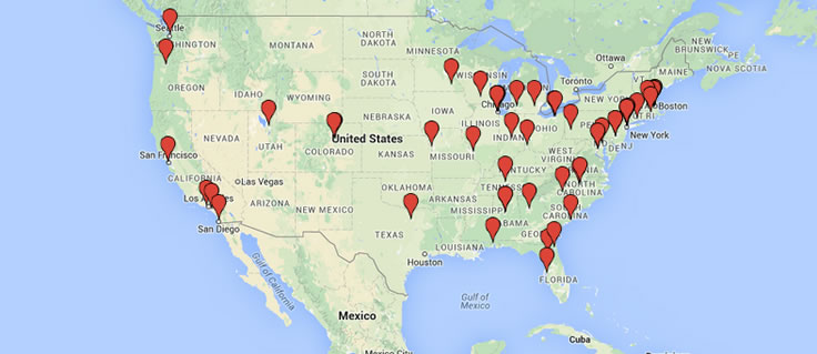 Residency Map:  See where the School of Medicine's Class of 2015 will be heading for residencies.